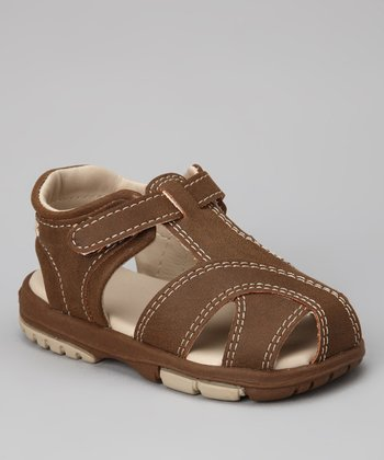 Brown Smooth Cruz Closed-Toe Sandal - Infant & Toddler