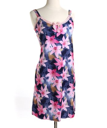 Floating Floral Pink Madison Nursing Dress
