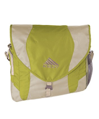 Green Messenger Diaper Bag