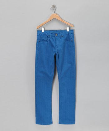 Blue Straight-Leg Pants - Boys