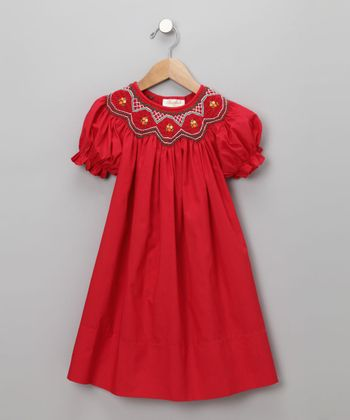 Red English Bishop Dress - Toddler
