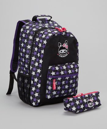 Purple Star Backpack & Pencil Case