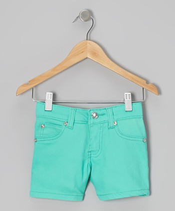 Mint Rhinestone Shorts