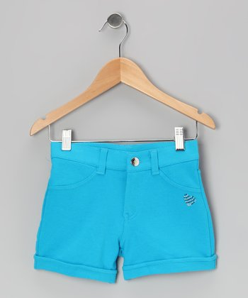 Bright Blue Shorts - Girls