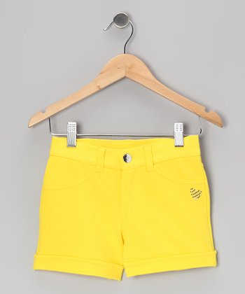 Neon Yellow Shorts - Girls