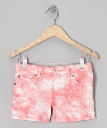 Coral Diamond Wash Shorts