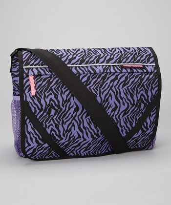 Violet Zebra Messenger Bag