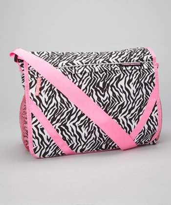 Zebra & Pink Messenger Bag