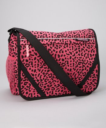 Pink Leopard Messenger Bag