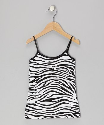 White & Black Zebra Tank
