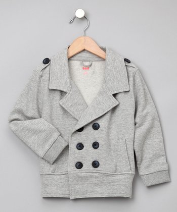 Heather Gray Military Jacket