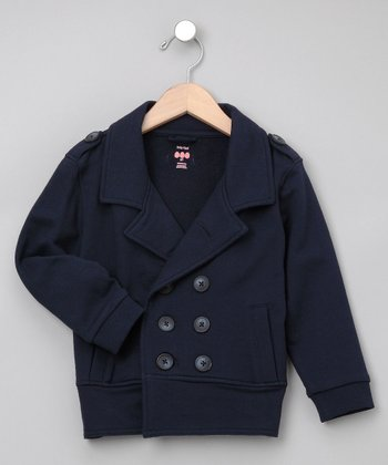 Navy Military Jacket - Infant, Toddler & Boys