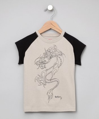 Baby Eggi Boys - Stone & Night Dragon Baseball Tee