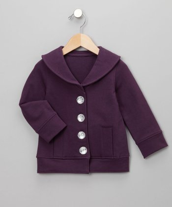 Purple Dynasty Wide-Collar Jacket - Infant, Toddler & Girls