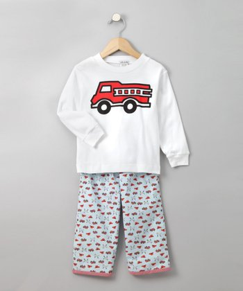 Fire Trucks Lounge Set - Toddler & Boys