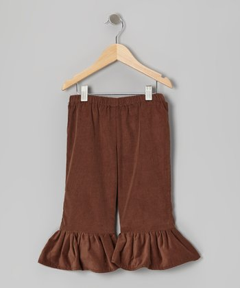 Brown Corduroy Flare Pants - Infant, Toddler & Girls