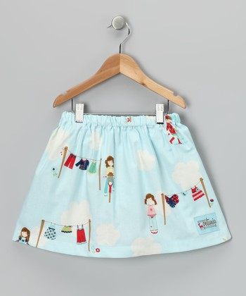 Light Blue Laundry Day Skirt - Toddler & Girls