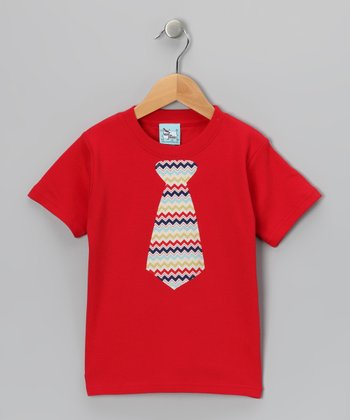 Red Chevron Tie Tee - Infant, Toddler & Boys