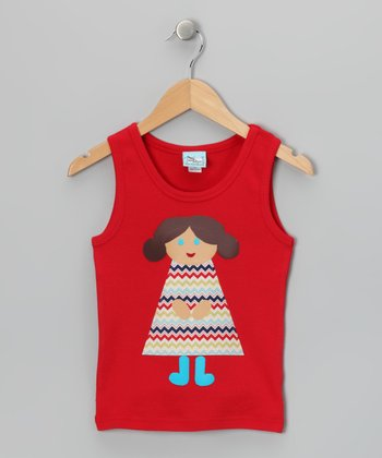 Red Chevron Girl Tank - Toddler & Girls