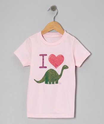 Pink I Heart Dinos Tee - Toddler & Girls