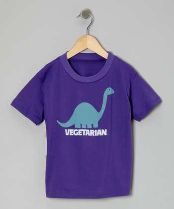 Purple 'Vegetarian' Tee - Toddler & Girls