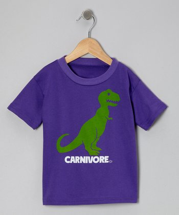 Purple 'Carnivore' Tee - Toddler & Girls