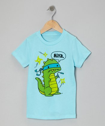 Blue 'Hiya' Tee - Toddler & Kids