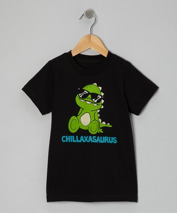 Black Chillaxasaurus Tee - Kids