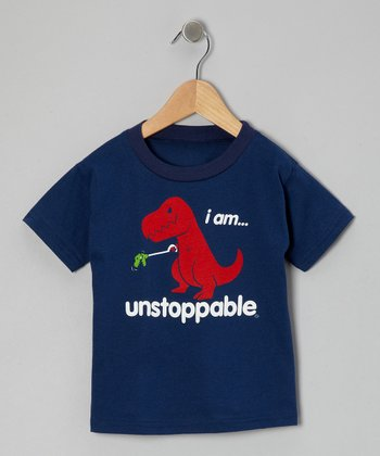 Navy 'Unstoppable Tee' - Toddler