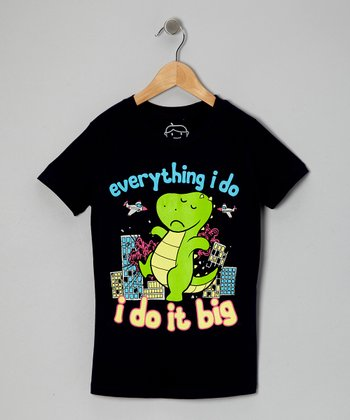 Navy 'I Do it Big' Tee - Kids