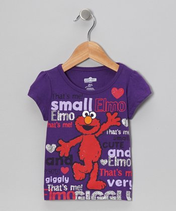 Purple 'Small' Elmo Tee - Toddler & Girls