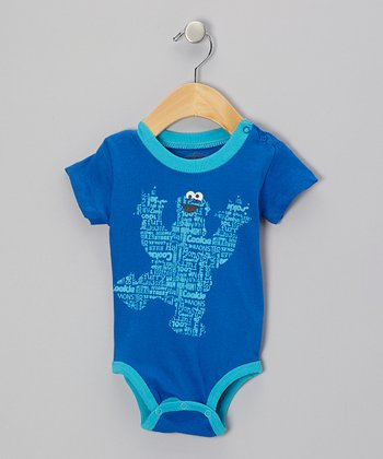 Blue Cookie Monster Bodysuit - Infant