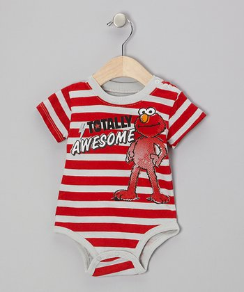 "Red Stripe ""#1"" Elmo Bodysuit - Infant"