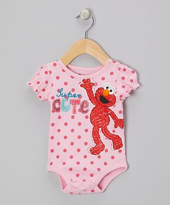 Pink Polka Dot Elmo Bodysuit - Infant