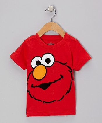 Red Elmo Face Tee - Toddler