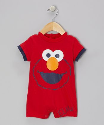 Red Elmo Face Romper - Infant