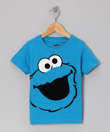 Blue Cookie Monster Face Tee - Infant