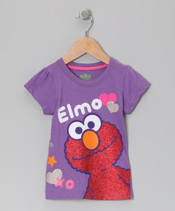 Purple 'Elmo XO' Tee - Toddler