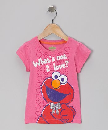 Pink 'What's Not 2 Love' Elmo Tee - Toddler