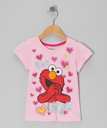 Pink Hearts 'Love' Elmo Tee - Toddler
