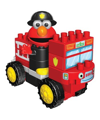 Elmo Fire Truck Building Set