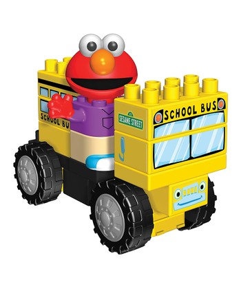 Elmo School Bus Building Set