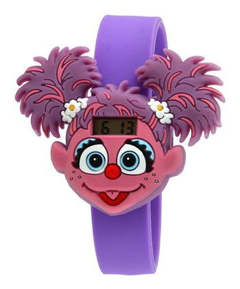 Purple Abby Face LCD Watch