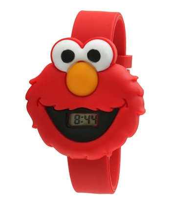 Red Elmo Face LCD Watch