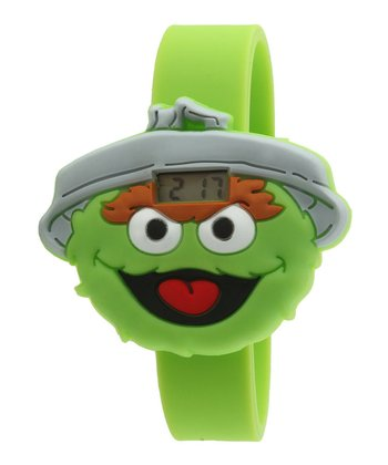 Green Oscar Face LCD Watch