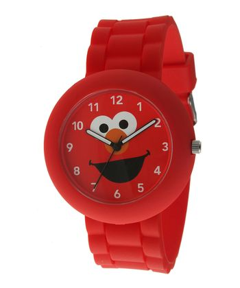 Red Round Elmo Watch