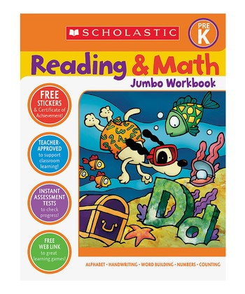 Reading & Math Jumbo Workbook: Pre-K