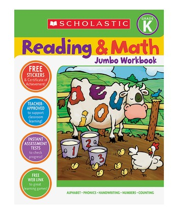 Reading & Math Jumbo Workbook: Kindergarten