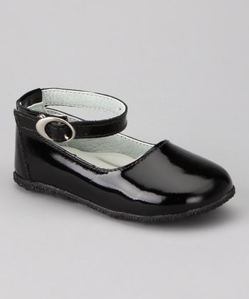 Black Ankle-Strap Flat