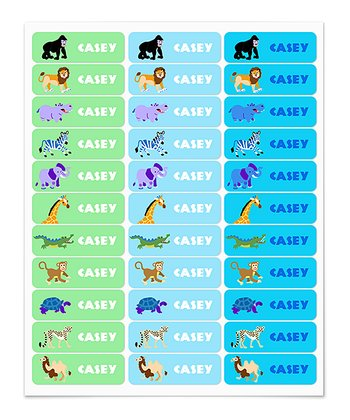 Wild Animals Personalized Label Set